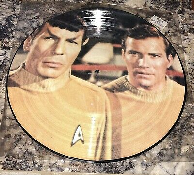 "1986 STAR TREK 12"" Picture Disc THE CAGE Original Soundtrack NCPX-706 Warped"