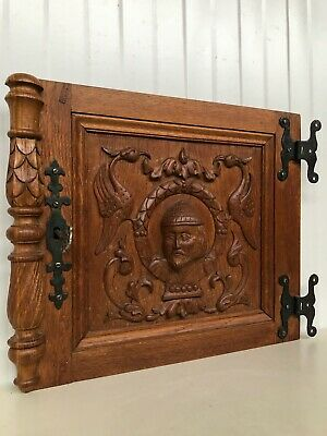 Stunning Neo Renaissance Door panel Carved all over with faces 2s
