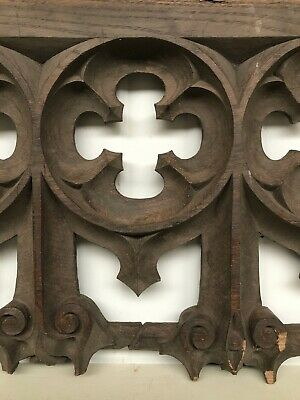 Stunning 19th C. Gothic Tracery Fragment/ panel in oak nr4