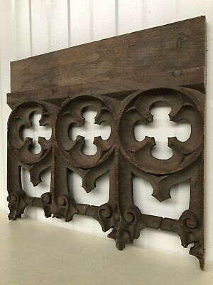 Stunning 19th C. Gothic Tracery Fragment/ panel in oak nr7