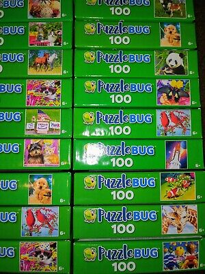 Lot of 2 New 300-350-500 Piece Jigsaw Puzzles Mystery Lot Animals~Landscapes