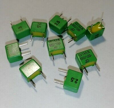 *** lot your choice of 2*5 or 10 polypropylene wima capacitors fkp2//100v ***