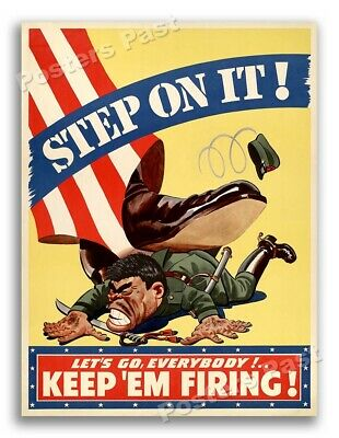 1942 Fly With The Marine Corp Vintage Style WW2 Era Poster 11x14