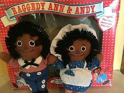 1990s Kenner African American Raggedy Ann and Andy Timeless Storybook Friends
