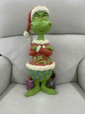 Jim Shore Grinch With Arms Folded Large Grinch Santa Statue 6004061 Bnib 123 90 Picclick