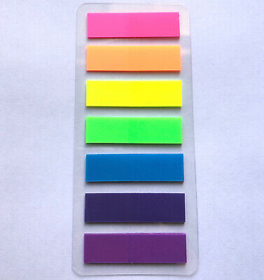 Translucent Book//Page Marker Stationery Strips 300 Pieces iMagitek 3 Sheet Neon Index Tabs Flags Page Markers Sticky Notes with Box