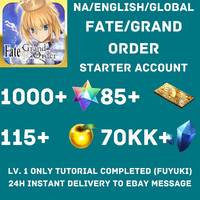 Buy 2 Get 1 Free Jp Fate Grand Order Fgo Starter Account 180 300 Sq More 0 99 Picclick