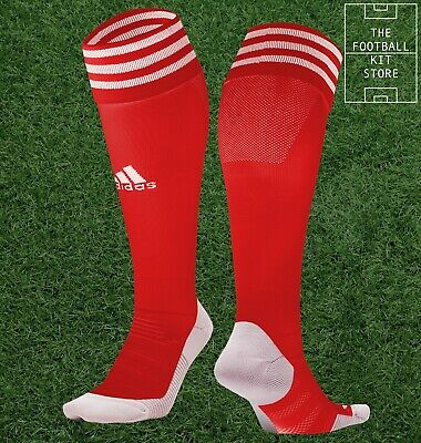adidas Football Socks Red - adisock Footy / Soccer adi sock - Adult / Mens