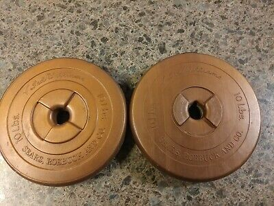 4x 2.5 lbs Weight Plates Sears Ted Williams Copper Vinyl Plastic Vintage 10 Lbs