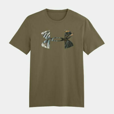1248038-708 Under Armour YOUTH Charged Cotton Camo Logo Tee Creamsicle