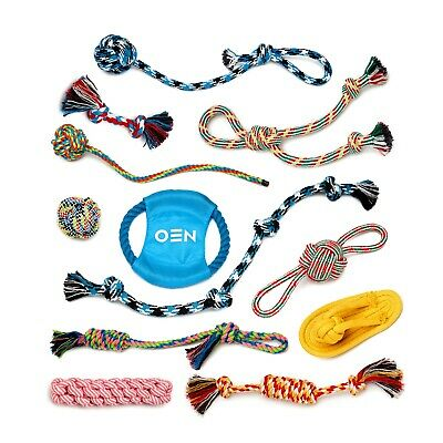 Dog Rope Toys for Aggressive Chewers Puppy Chew Teething Treats Tug Toy 12 Pack