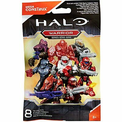 THREE Halo Mega Construx  Mystery Packs~ Warrior Series Red Elite Action Figures