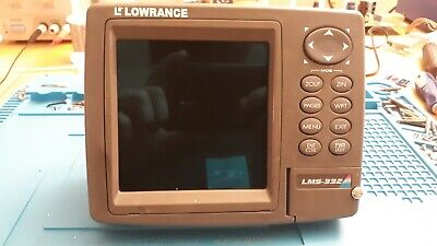 LOWRANCE LMS 520C FISH FINDER HEAD UNIT AND SUN COVER
