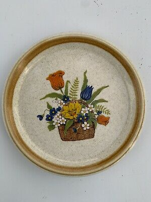 Mikasa Stonemanor Garden Bouquet  Discontinued Saucers only Set of 2 Great
