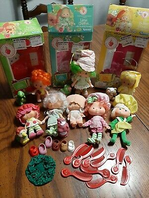Vintage Kenner Strawberry Shortcake Dolls Lot Of 8 5 Pets And Accessories 69 99 Picclick