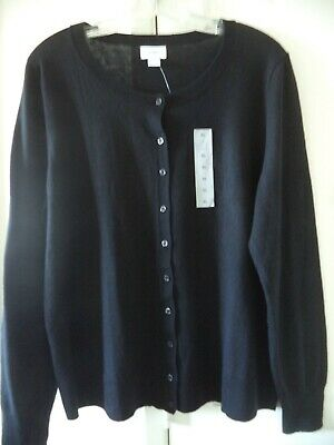 Old Navy Red Lt Weight Crew Neck Cardigan Sweater XXL 2X 3X Must Have Basic