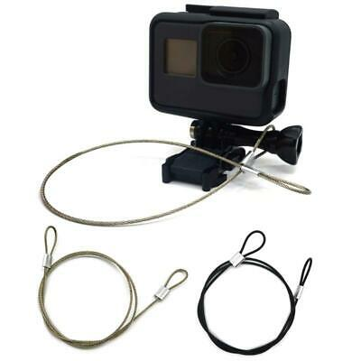 Camera 30cm Safety Steel Lanyard Tether w// Screw For GoPro 6//5//4//3 Hero Action