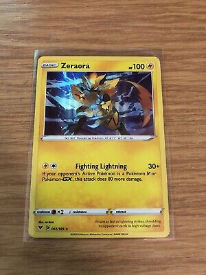 Pokemon Card ZERAORA Reverse Holo Rare 061//185 VIVID VOLTAGE *MINT* 61//185