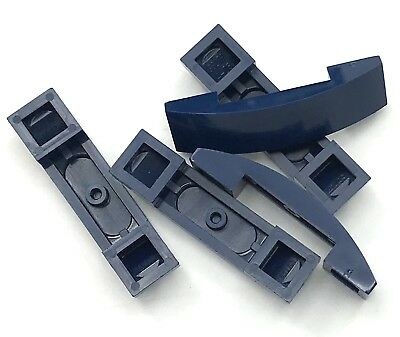 Lego 5 New Dark Blue Slope Curved 2 x 1 Sloped Pieces