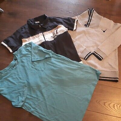 Bundle of 3  Boys Clothes age 12-13yrs Jumpers  Shirt anf T shirt.