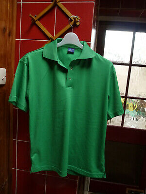 Mens Lightweight Polo T-Shirt Size S SPORTS CASUAL GREEN NEW