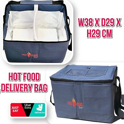 Heavy Duty Hot Food Takeaway Delivery Bag for Kebab Indian Chinese Pizza Burgers