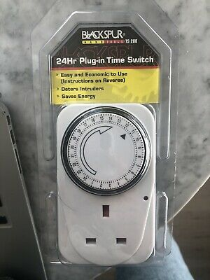 24 Hour Plug In Time Switch - Brand New - Black