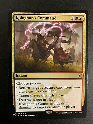 The Gathering MTG Mystery Booster//the List Kolaghan/'s Command M//NM Magic