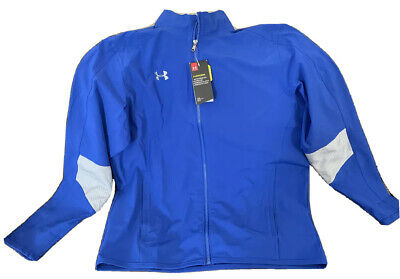NWT Under Armour Men/'s UA Charger Warm-Up Red//Steel Jacket 4XL 1293911 600