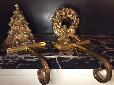 YOUR CHOICE TREES BELL OR REI SOLID BRASS LONG ARM CHRISTMAS STOCKING HANGERS