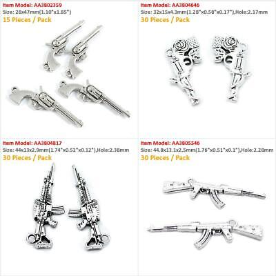 Tibetian Silver Lead Free Pewter Charms//Assault Rifle #2832 ~ 21-23Pcs.