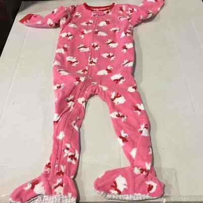 Carter/'s Infant Boys Poly Fleece Zipfront Footed Sleepers PJs 12 /& 24 mos//2T NEW