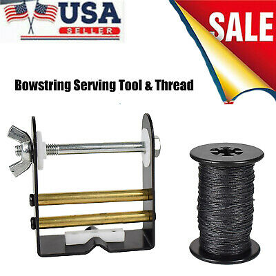 Compound Bow String Server Jig Bobbin Bowstring Serving Tool Hunting Archery❤ED