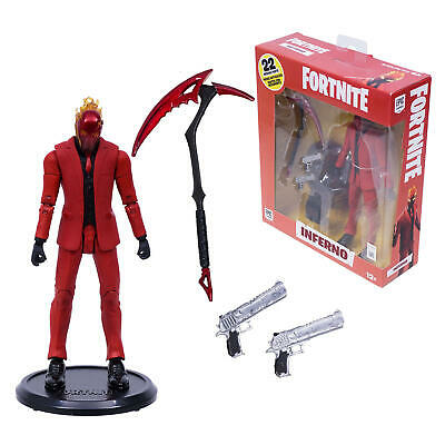"NEW FORTNITE INFERNO EPIC GAMES MCFARLANE TOYS 7/"" ACTION FIGURE 22 PARTS"