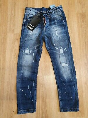 Dsquared2 Boys Skinny Jeans Age 7-8 it can fit age 6-7 year  Colour Blue Denim