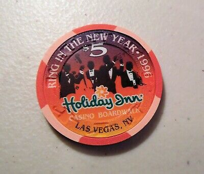 $5. Casino Chip Holiday Inn Casino Boardwalk, Las Vegas, New Year 1996