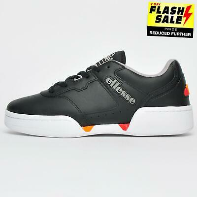 Ellesse New Mens White Leather Tanker Retro Trainers Shoes RRP £70 UK Size 10
