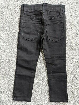 H&M Black Skinny Stretch Denim Trousers For Boys 2-3 Years New Without Tags
