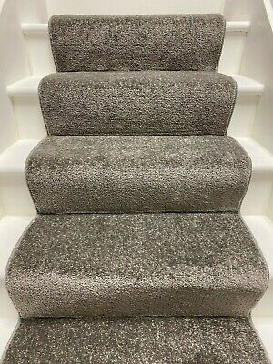 Beige Twist Carpet Stair Runner with Whipped Edge