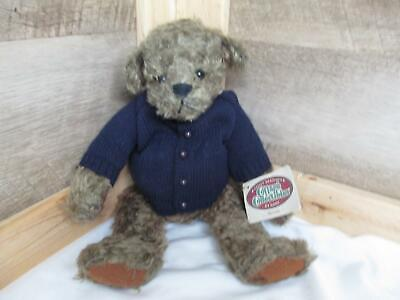 Ganz Teddy Bear Hooded Sweater-New Old Stock Burgundy-Large