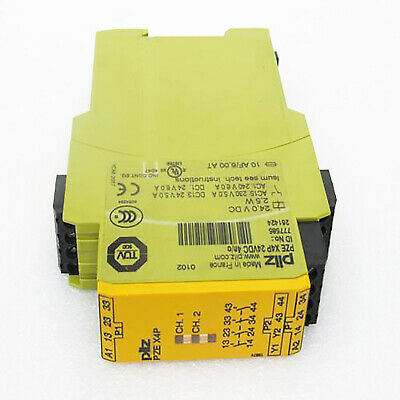 PILZ  PZE X4P 24VDC 4n/o 777585 Safety Relay  New✦Kd