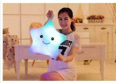 Luminous Pillow Star Cushion Colorful Glowing Led Light Toys Gift For Girl J1C3