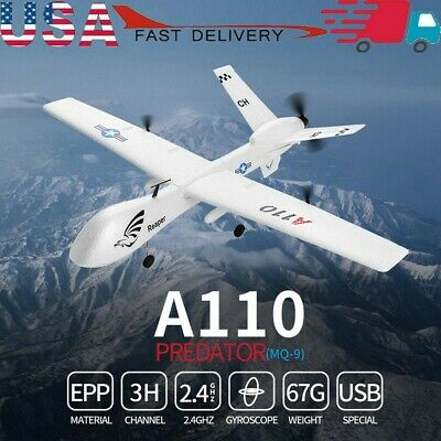 GoolRC WLtoys XK A110 RC Predator Plane 2.4G 3 Channels Remote Control Airplane with 6-Axis Gyroscope Fixed Wing Glider Aircraft with 565mm Wingspan for Beginner