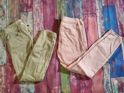 Arizona Jean Company Junior Jeans Pants Size 1 Pink & Beige