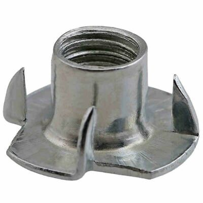 50pcs Many Size Zinc Plated Four Claws Nut Speaker Blind Pronged Tee Furniture