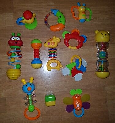 Toys Activity... CestMall Baby Rattle and Sensory Teether Ball