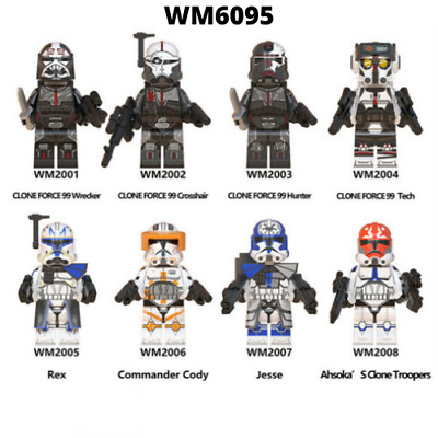 Star Wars The Bad Batch Clone Force 99 TECH Minifigure for Lego Kids Toy Gift