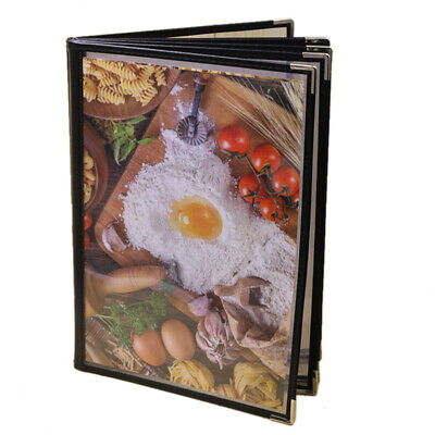 Transparent Restaurant Menu Covers for A4 Size Book Style Cafe Bar 6 Pages Y1S9