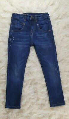 Zara Blue Denim Jeans With Some White Dots..For 7 Years Old Boys, Good Condition
