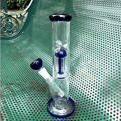 14inch Glass Hookah Water Pipes 14mm Smoking Bong Beaker Bubbler w/ ICE catcher